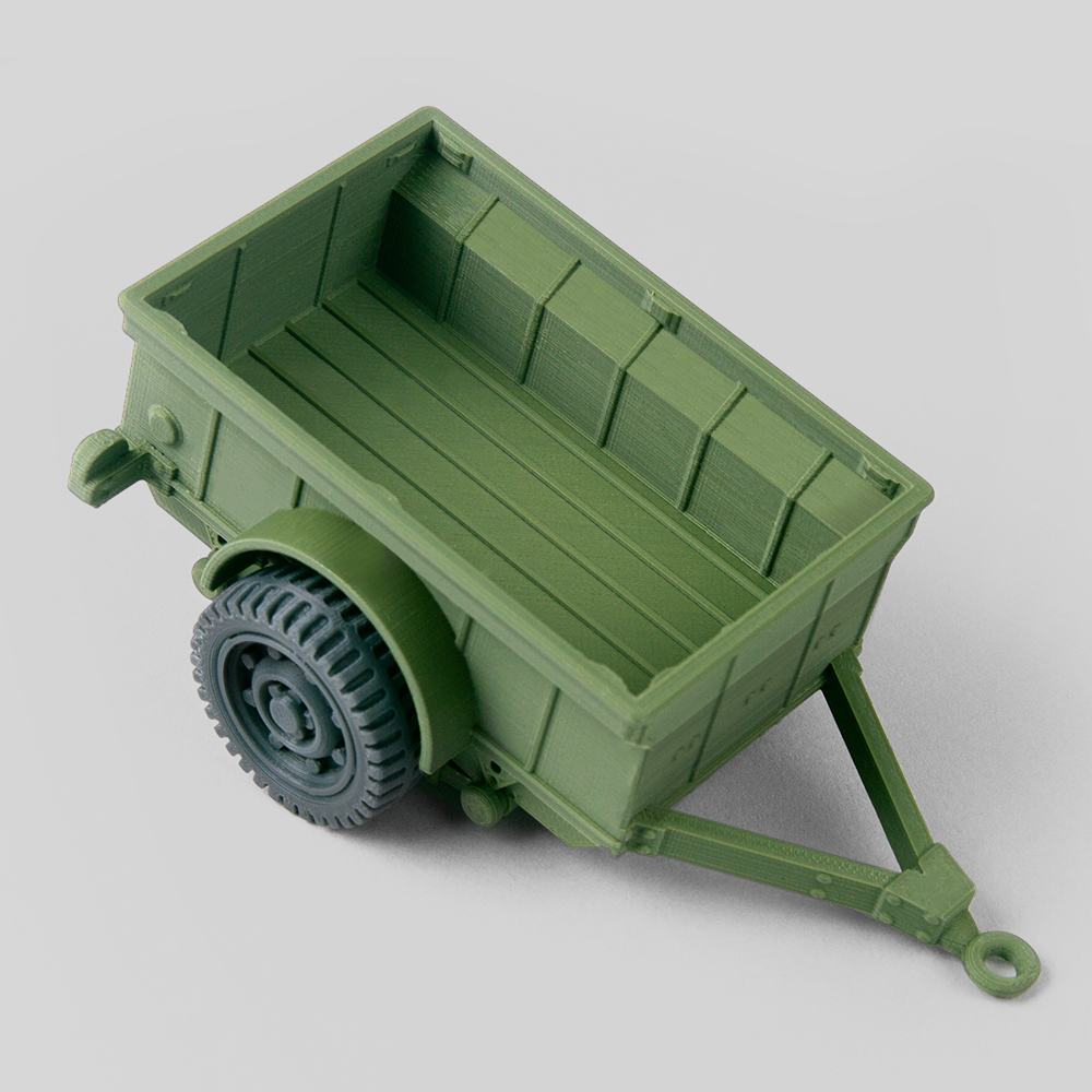 Foldable Willys Jeep trailer