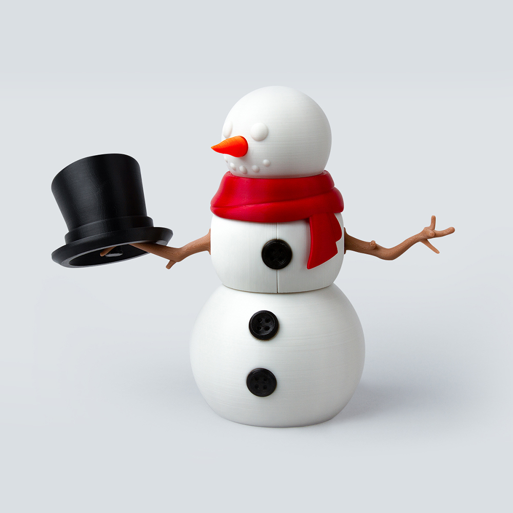 Foldable 3 Stacked Snowman