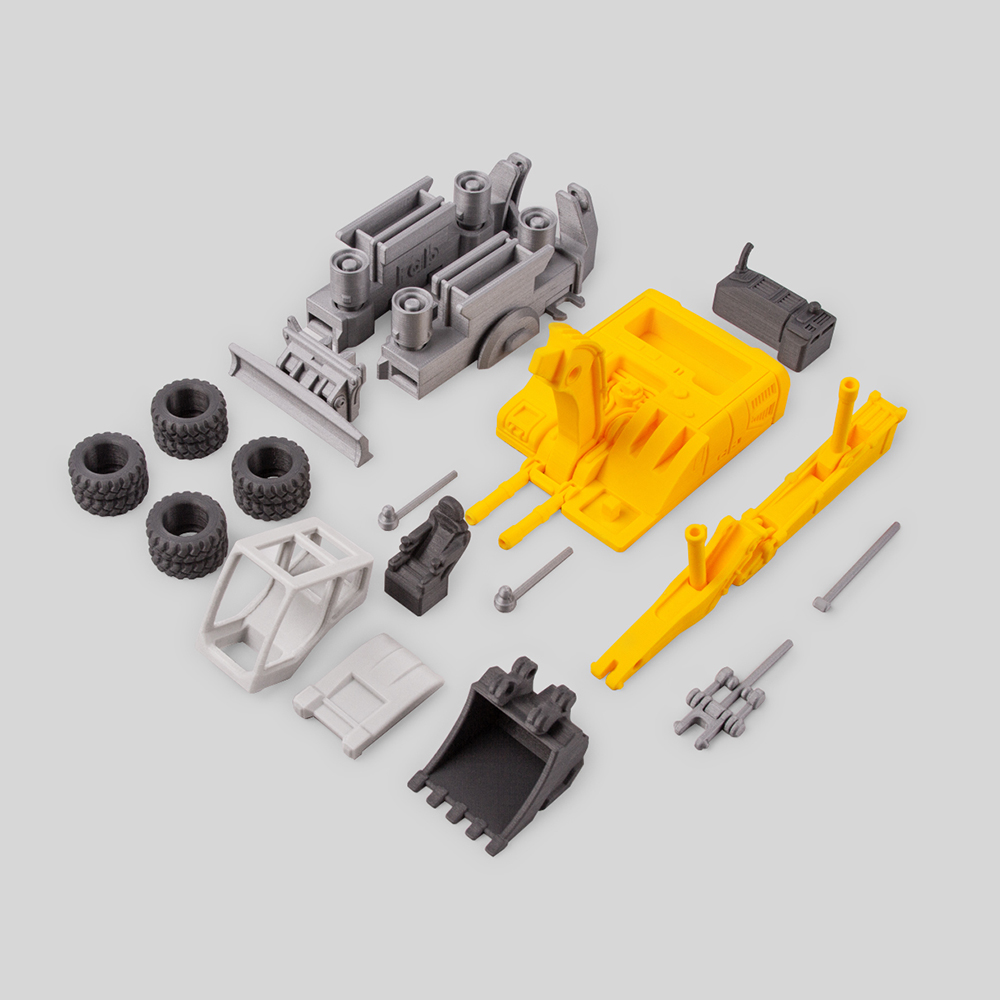 Excavator (Print-in-Place articulated)