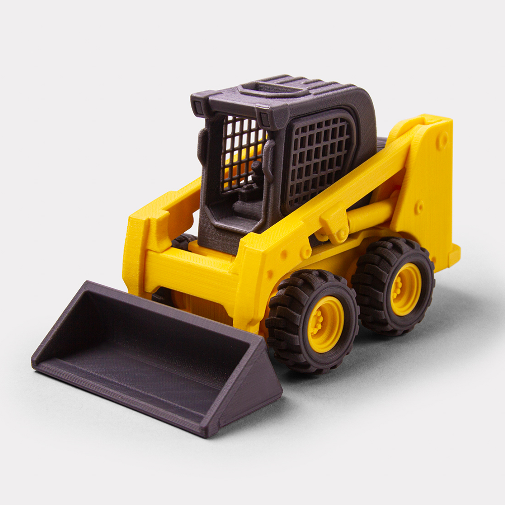 Skid loader (Print-in-place Articulated)